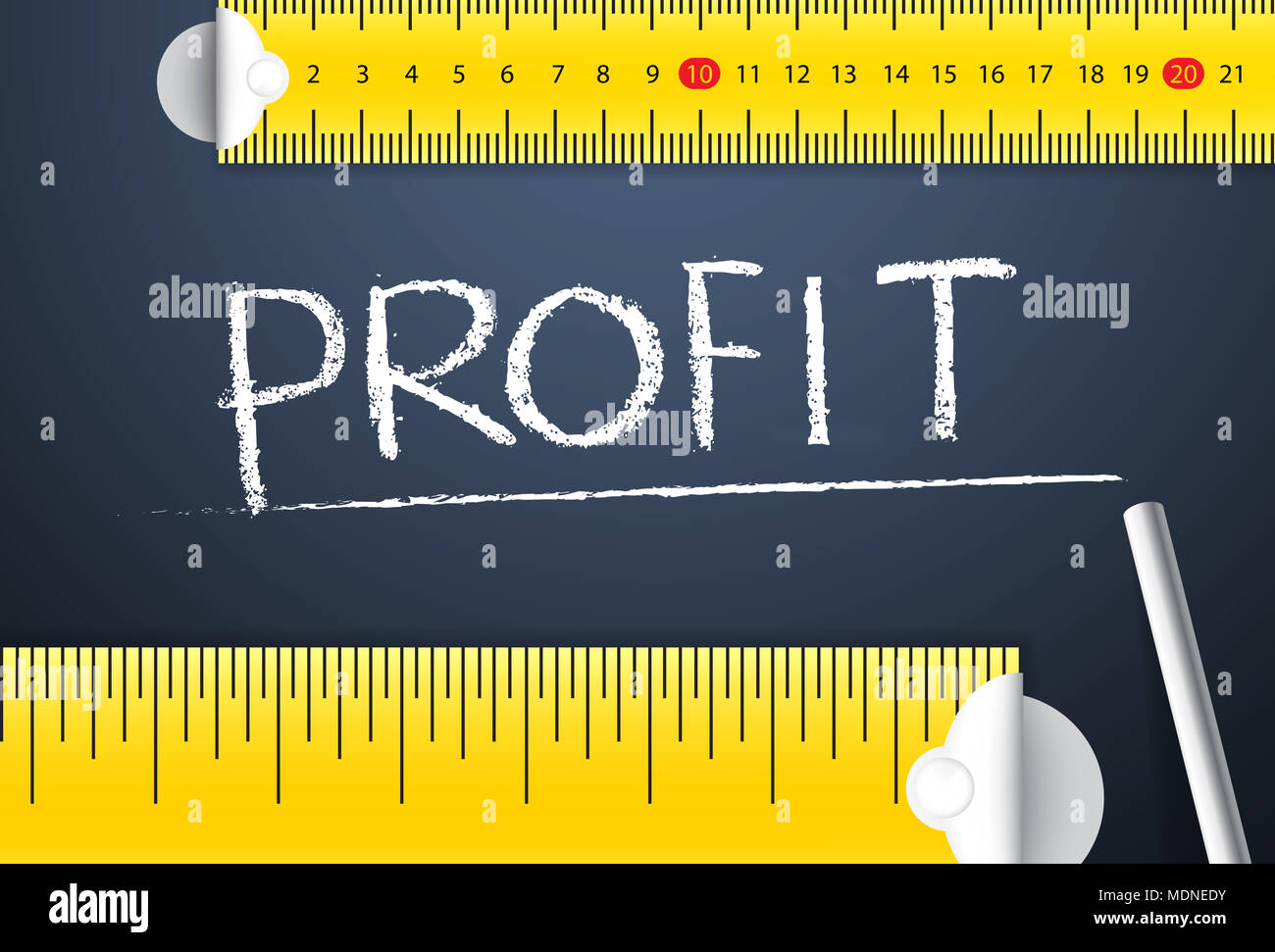 Measuring business profit management. Various way of measuring the accountability of company profit based on different accounting standard - Stock Image