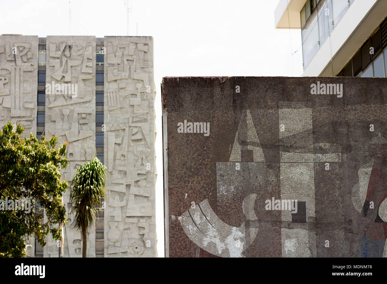 Guatemalan buildings - Stock Image