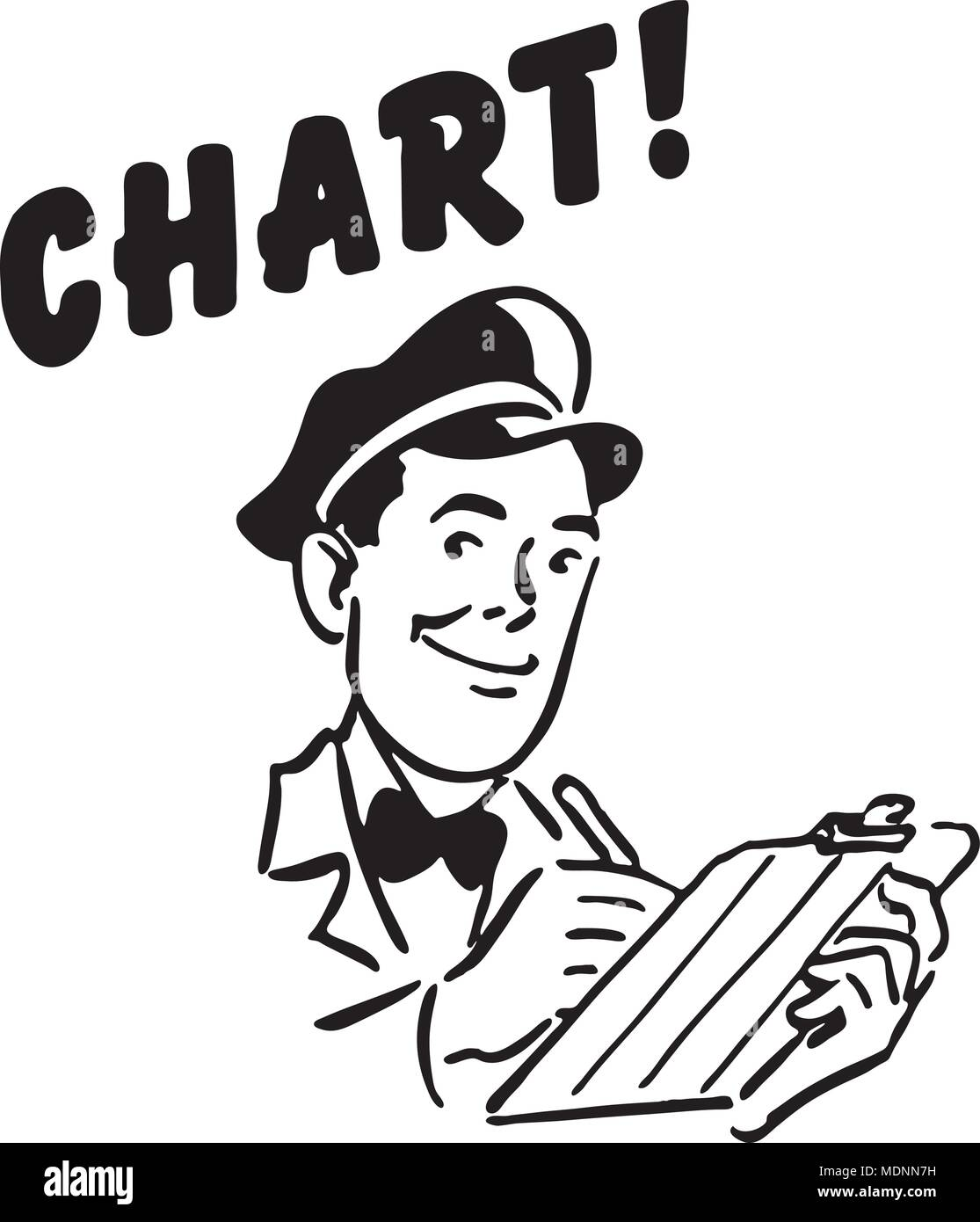 Chart - Retro Clipart Illustration - Stock Image