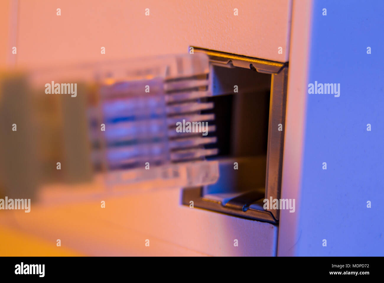 Networking Equipment Stock Photos 26416electricpanelpanelwiringjpg Macro Close Up Of Insert Ethernet Cable Into Wifi Extender Device Which Is In Electrical Socket