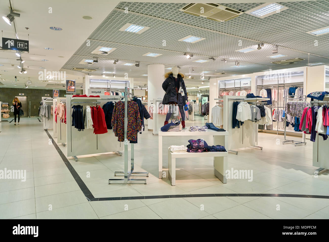 SAINT PETERSBURG, RUSSIA - CIRCA OCTOBER, 2017: inside 'Stockmann Nevsky Center' shopping center in Saint Petersburg. - Stock Image