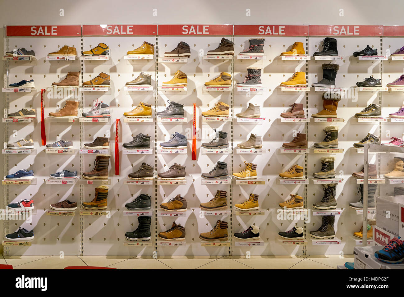 the latest 53667 319bd Boots Shoes On Display In Stock Photos & Boots Shoes On ...