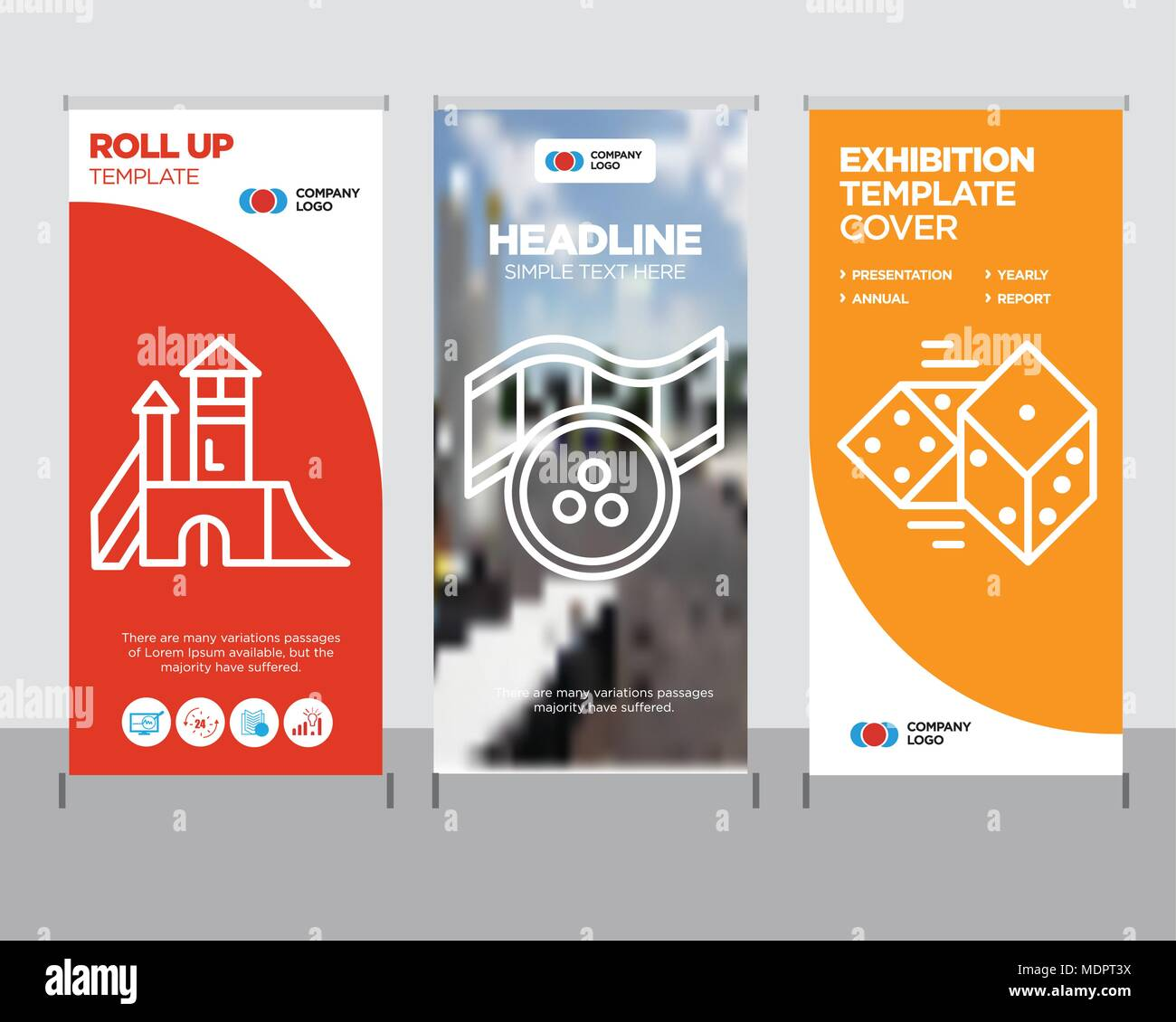 Dices Modern Business Roll Up Banner Design Template Movie Creative Poster Stand Or Brochure Concept Playground Cover Publication