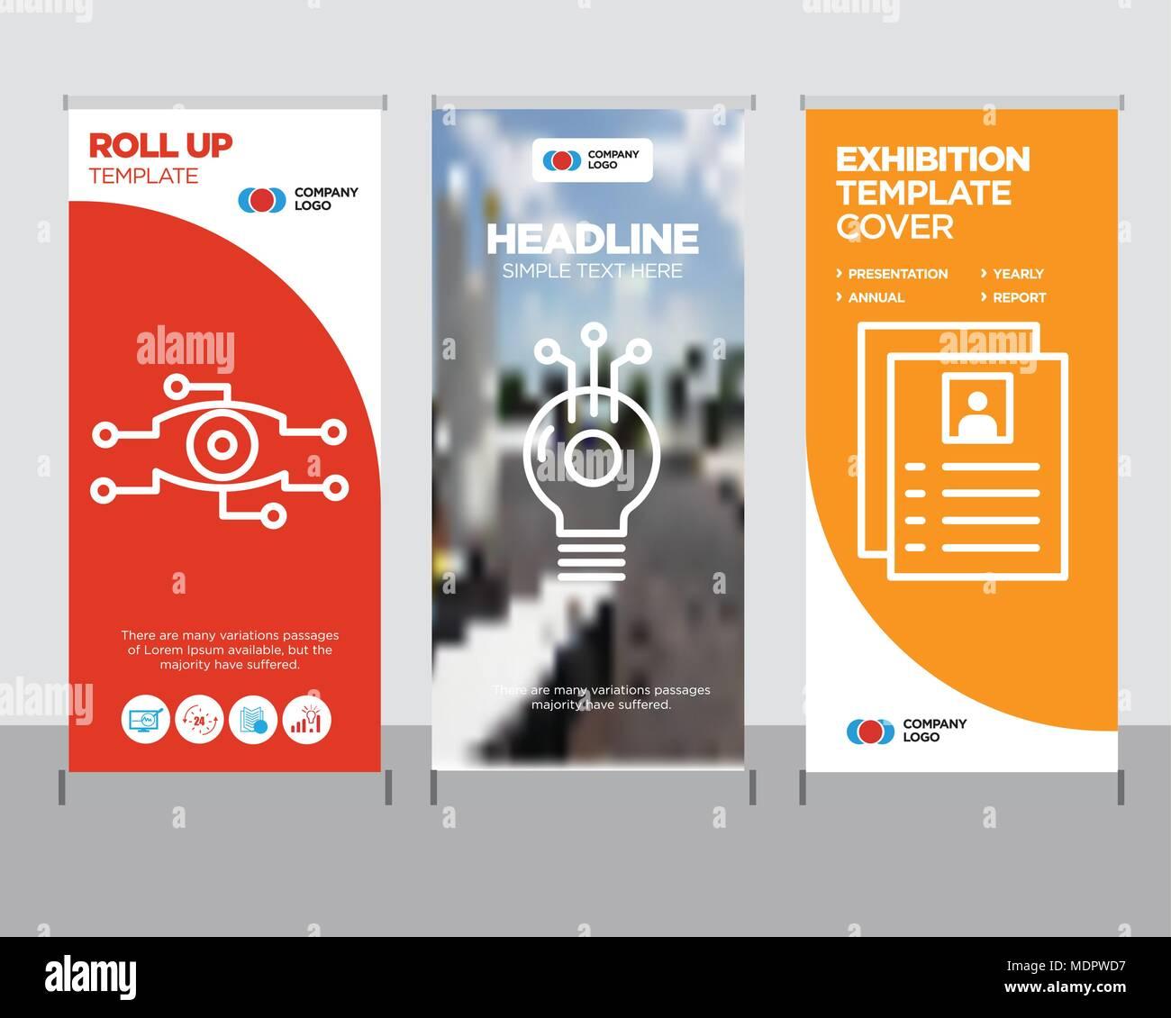 flyer modern business roll up banner design template idea creative