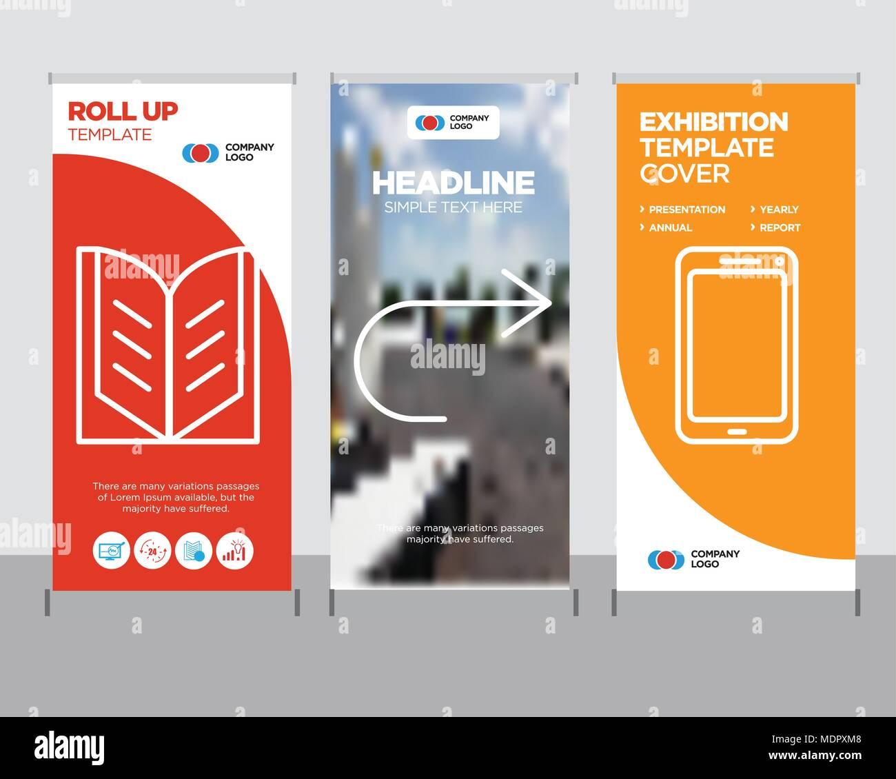 Creative Book Cover Design Samples ~ Smartphone modern business roll up banner design template arrow