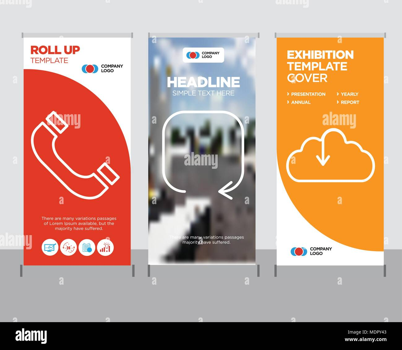 download from the cloud modern business roll up banner design