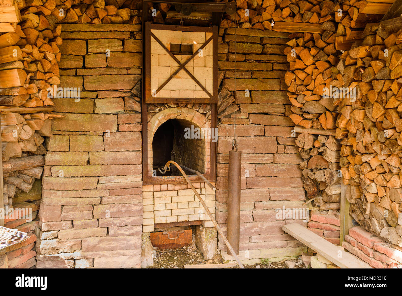 Elegant Traditional Wood Fired Lime Kiln For Production Of Slaked Lime. Working  Replica Outside Borgholm Castle Ruin On Oland, Sweden Stock Photo:  180601498   Alamy