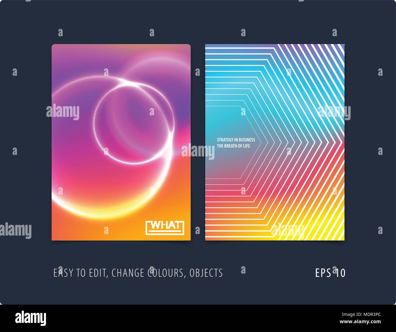 Abstract colourful poster graphic design of brochure in fluid liquid style with blurred smooth background. - Stock Image