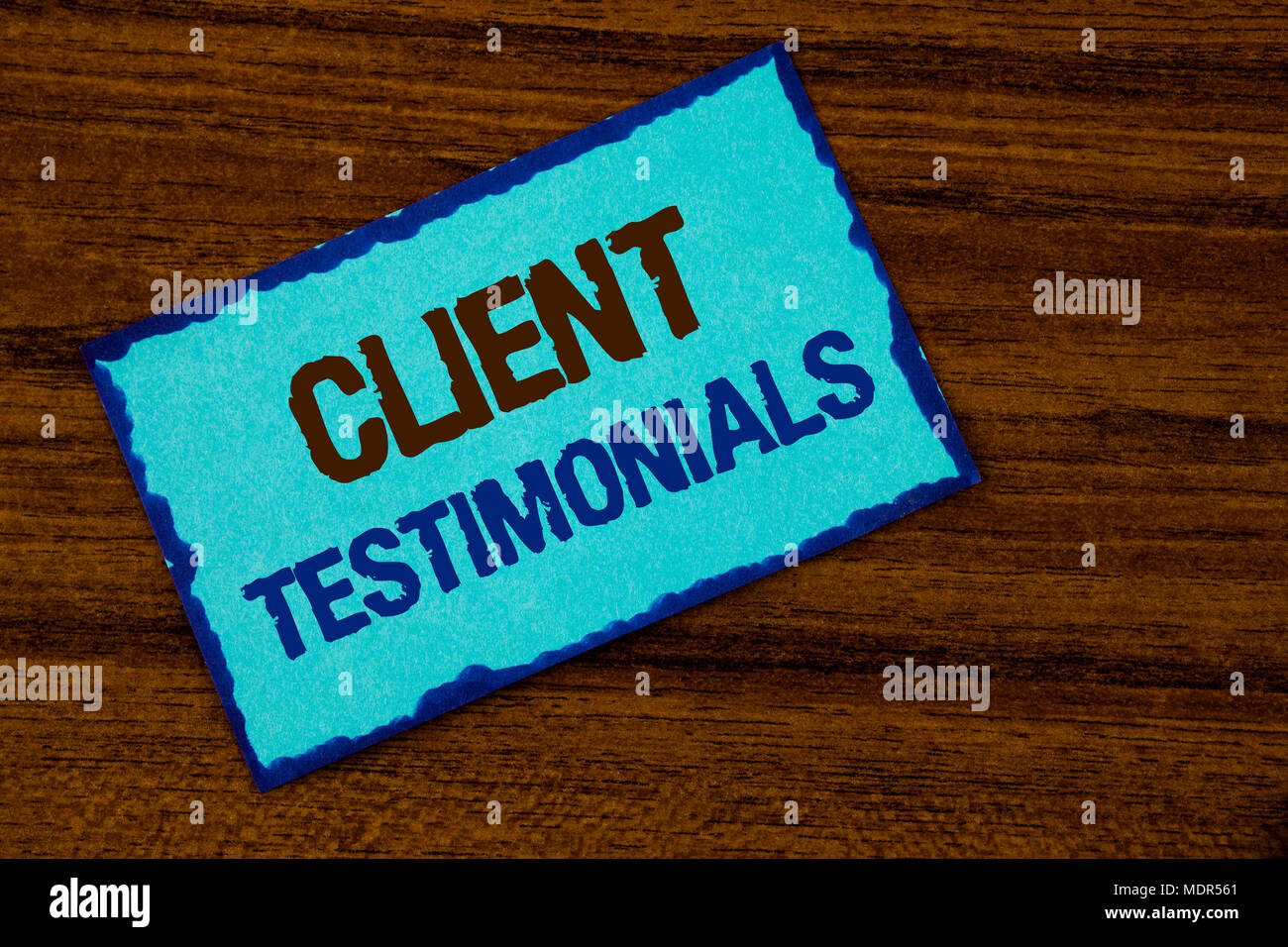 Text sign showing Client Testimonials  Conceptual photo Customer