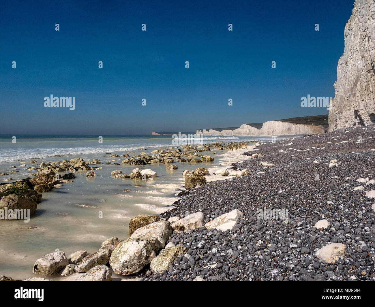 Birling Gap And Seven Sisters Chalk Cliffs On The East Sussex Coast