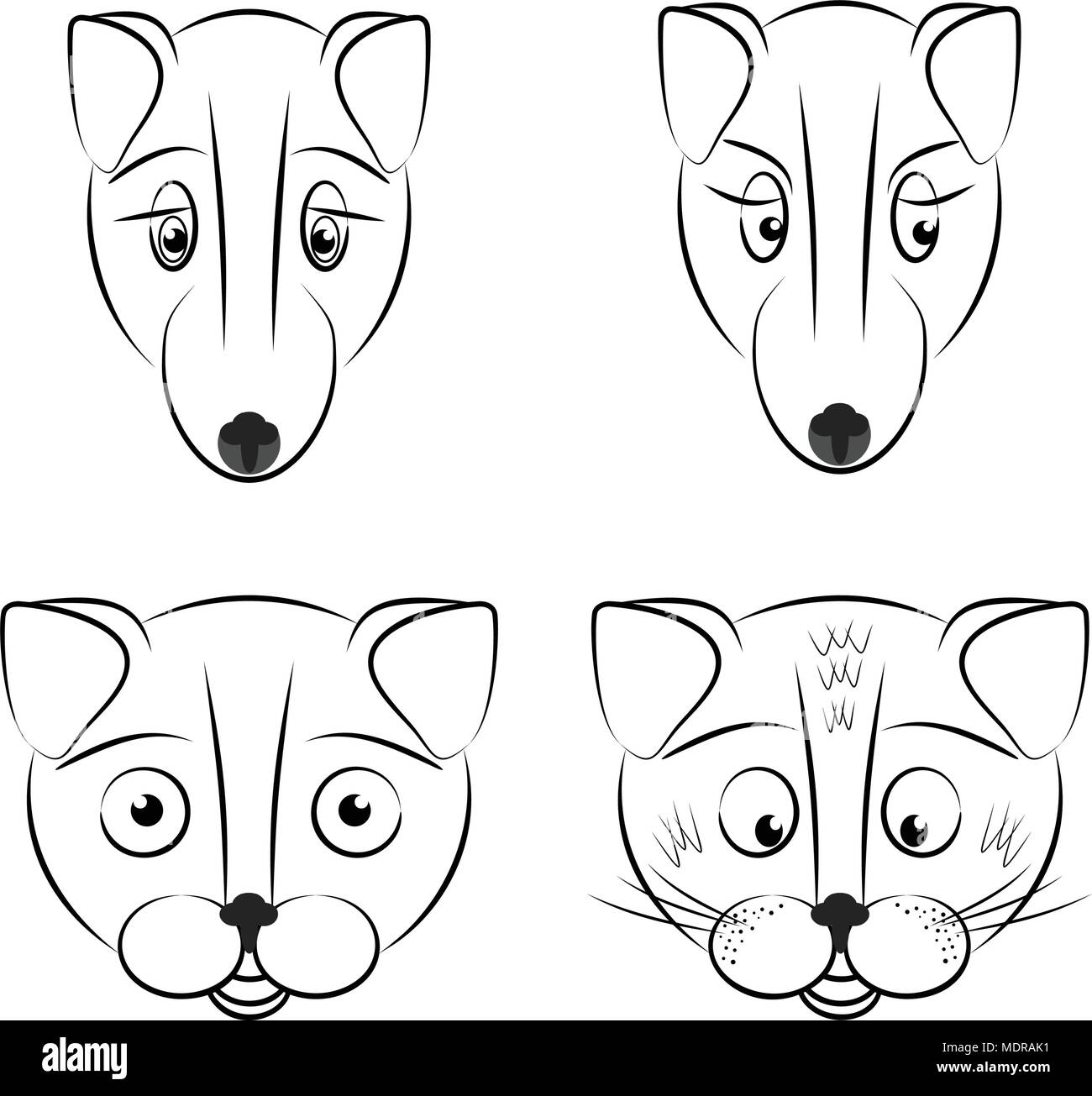 Pack Animals Black And White Stock Photos Images Alamy Harbor Seal Skeleton Diagram Carnivora Phocidae Outline Icons Set Linear Style Symbols Collection Image