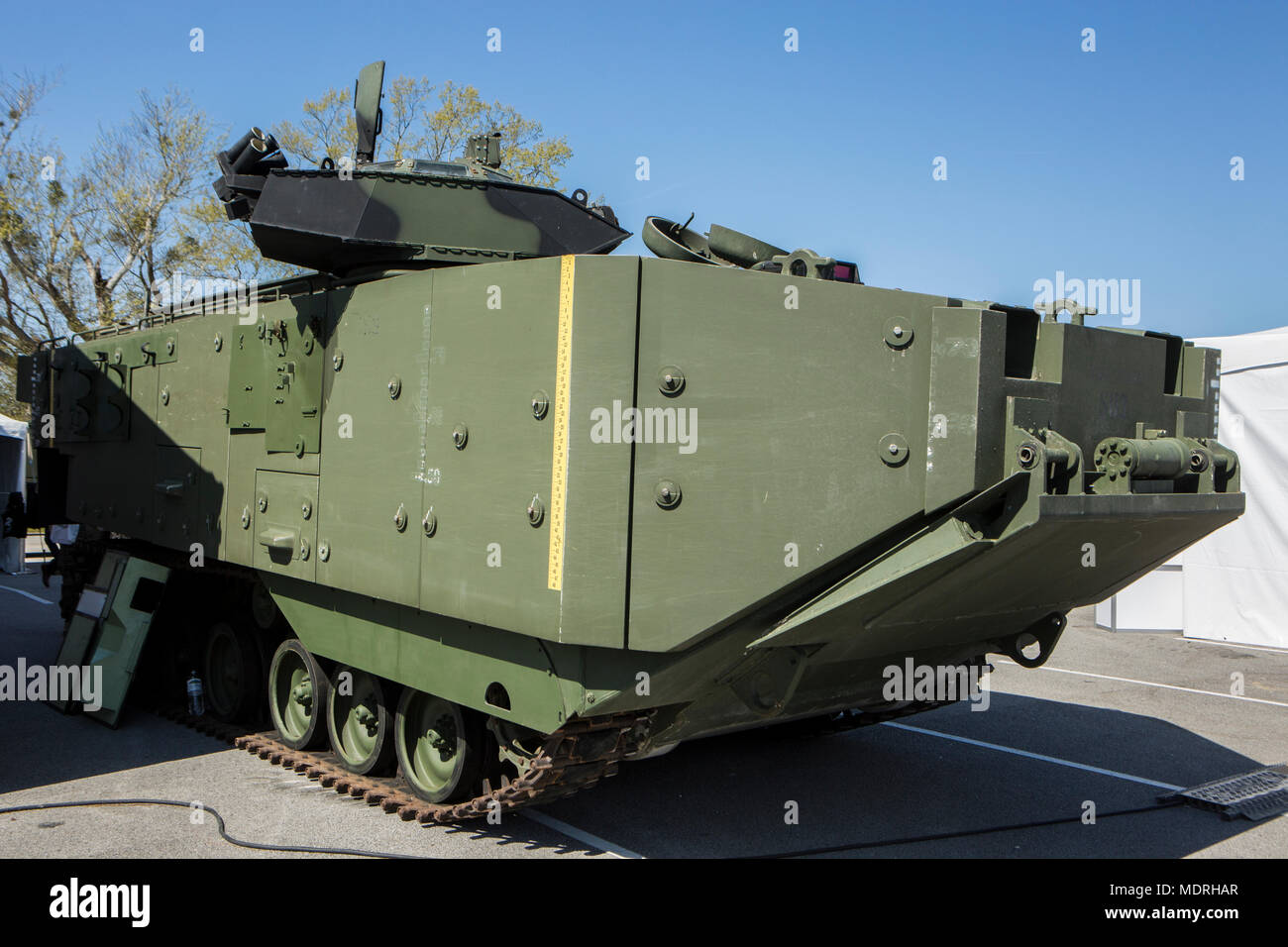 Amphibious Assault Vehicle Aav On Display At Marine Expo South On Camp Lejeune N C April 12