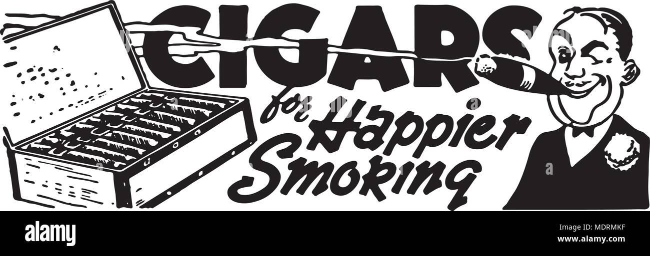 Cigars - Retro Ad Art Banner - Stock Vector