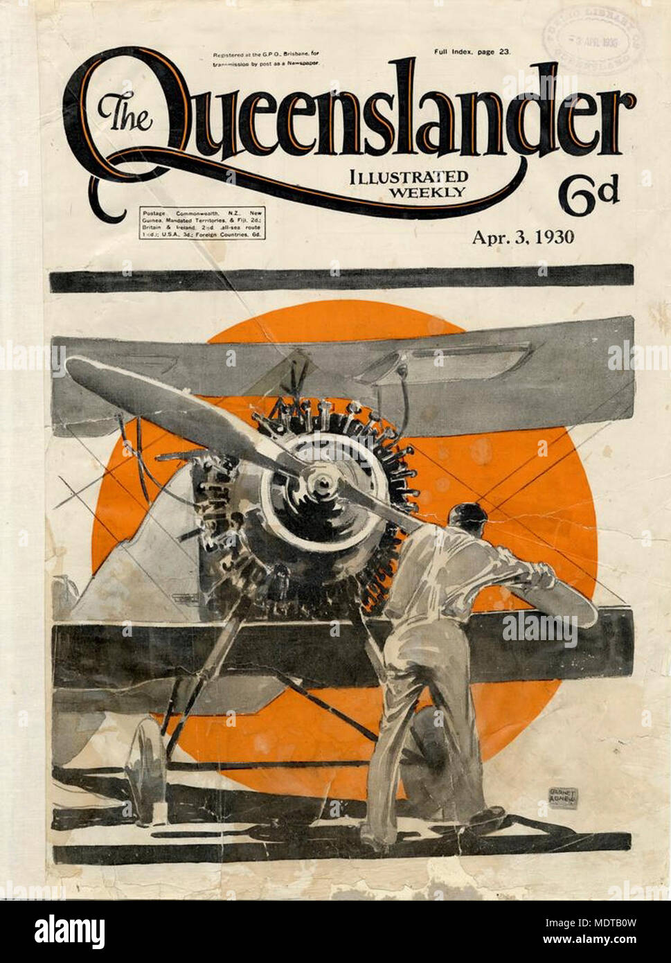 illustrated front cover from the queenslander april 3 1930