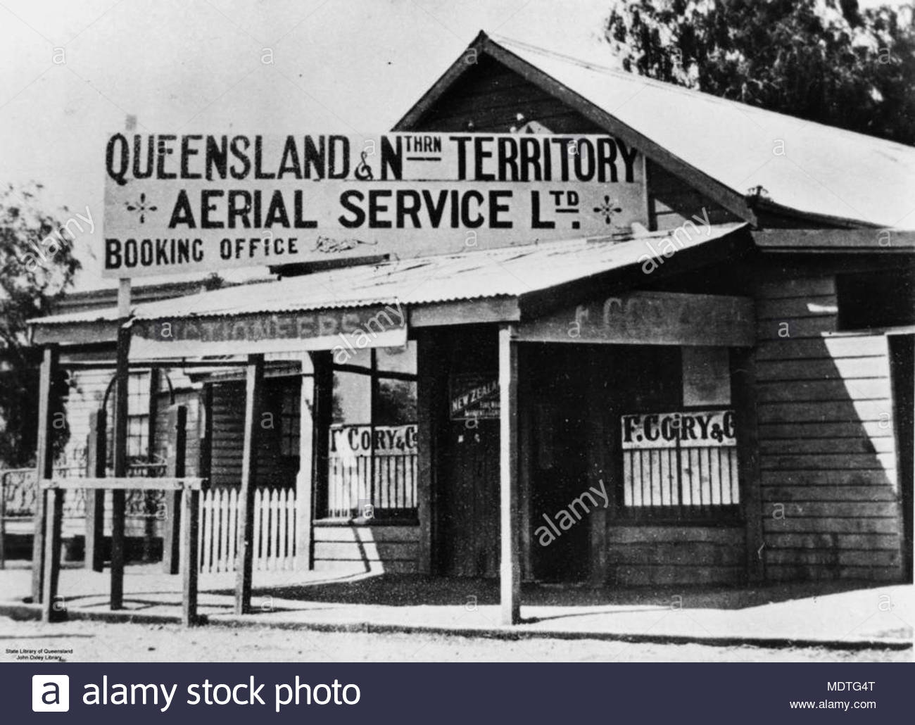 Early premises of QANTAS, in Longreach, Queensland. - Stock Image
