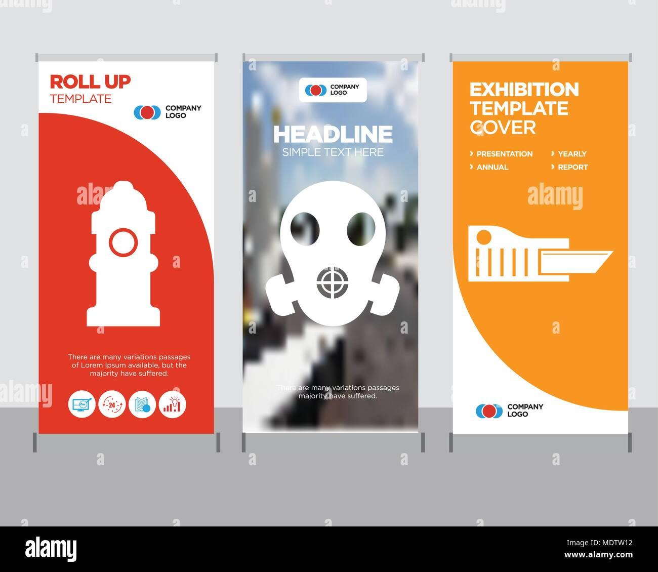 cutter modern business roll up banner design template respirator