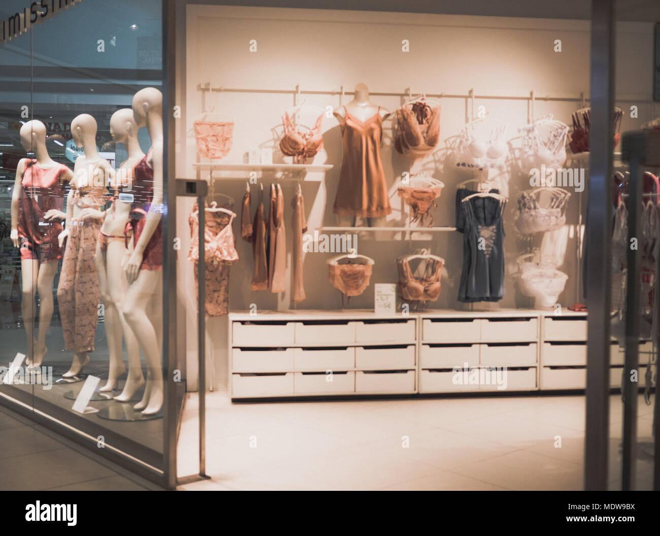 big sale 53b06 b5373 Rimini, Italy, March-05-2018 shopping window, woman fashion ...
