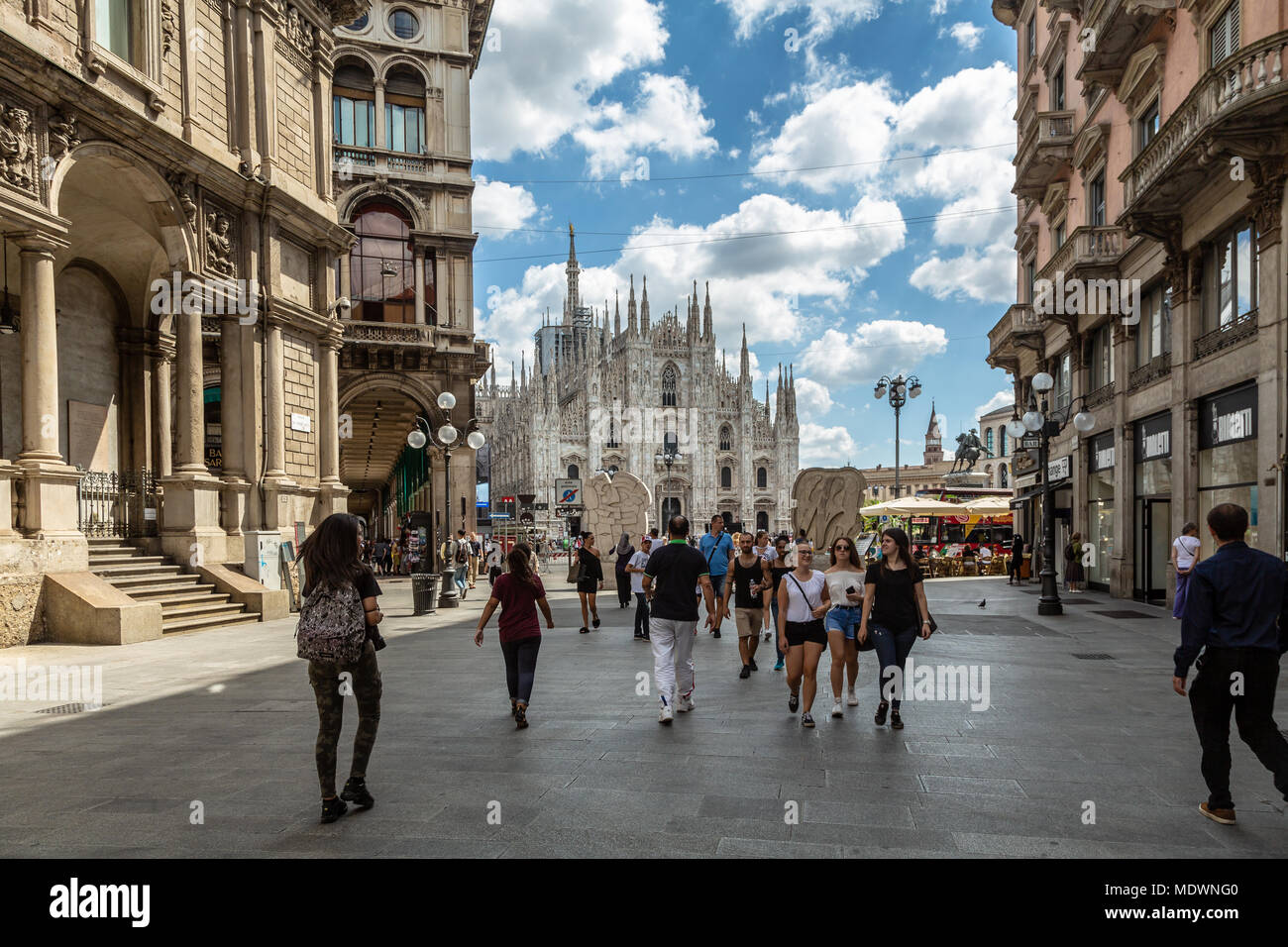Milano, Italy, Piazza dei Mercanti Stock Photo