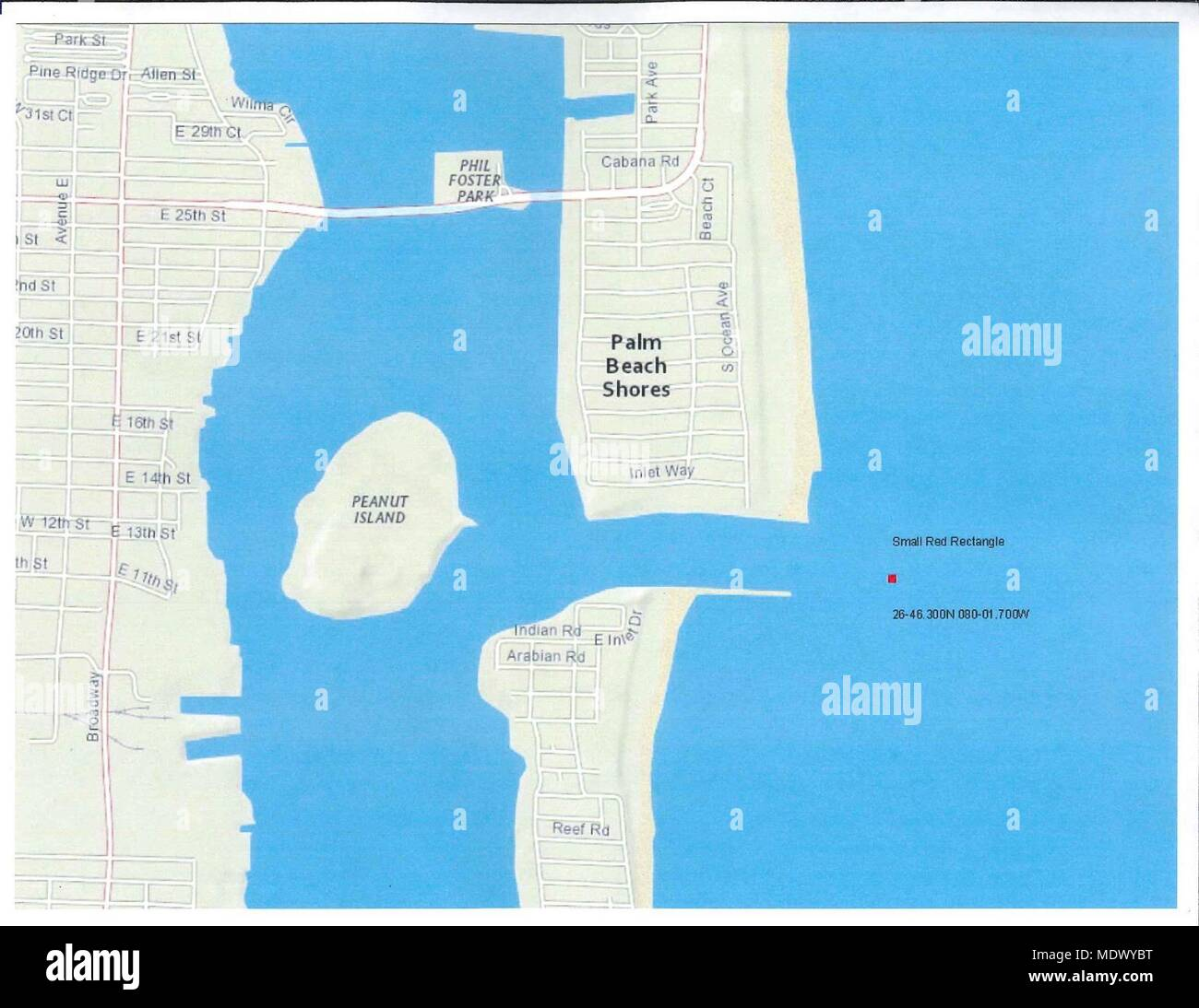 A map displaying the location of a disabled vessel with one ...