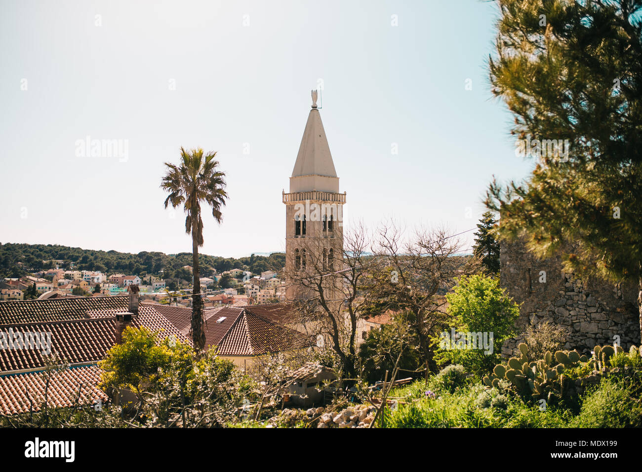 Church in Mali Losinj, Croatia - Stock Image