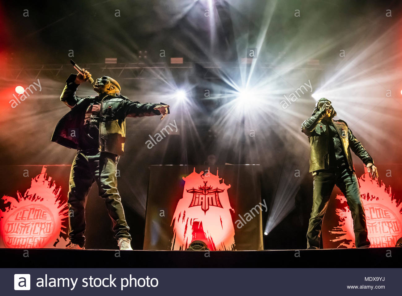 IAM performing live at the first edition of MUSILAC Mont-Blanc music festival in Chamonix (France) - 20 April 2018 Stock Photo