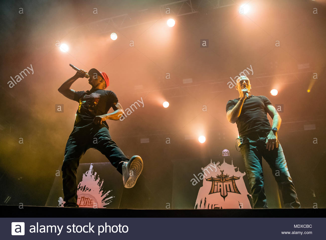 Chamonix, France. 20th April 2018. IAM performing live at the first edition of MUSILAC Mont-Blanc music festival in Chamonix (France) - 20 April 2018 Credit: Olivier Parent/Alamy Live News - Stock Image