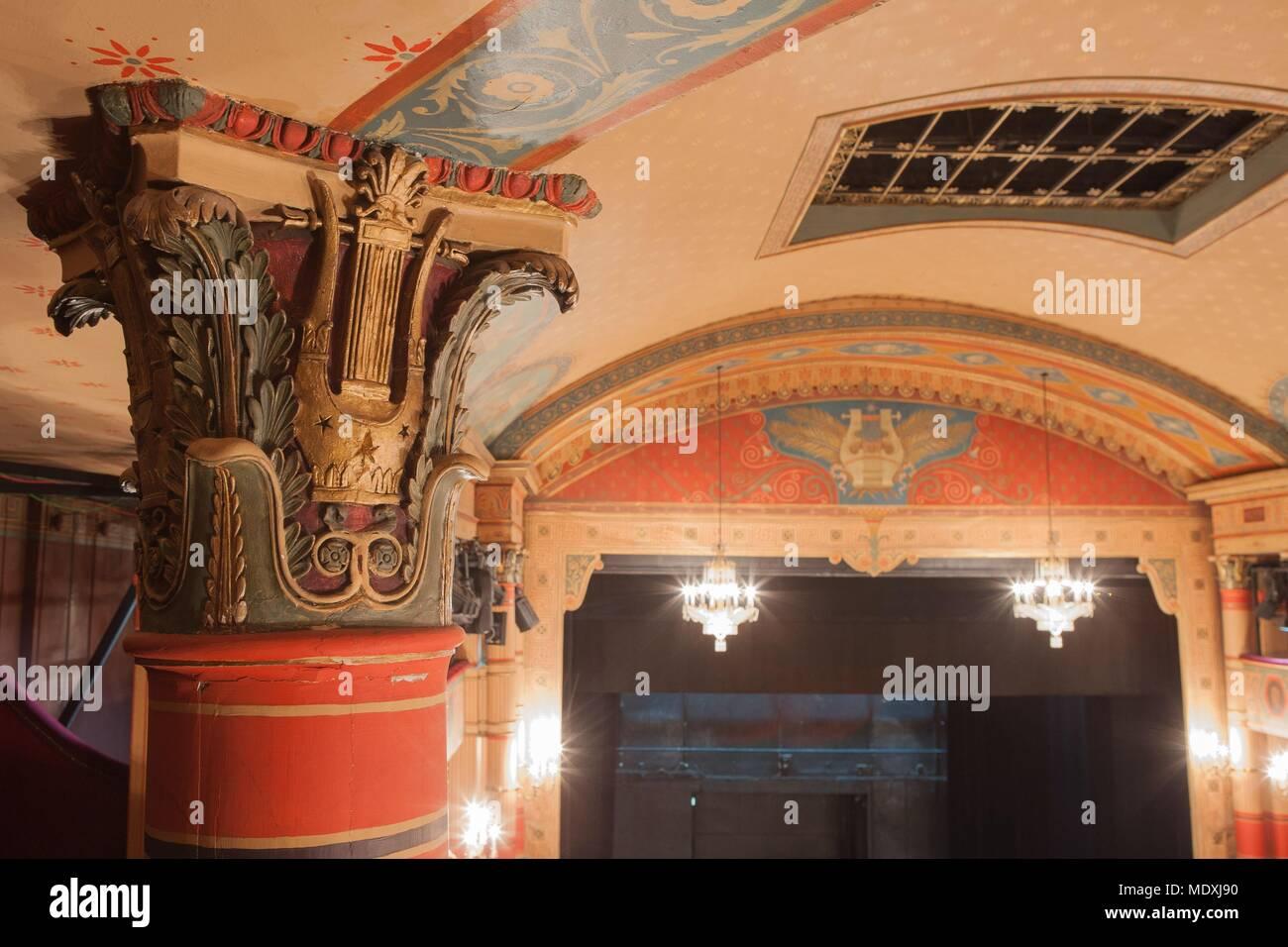 Paris, 2bis rue du Conservatoire, Theatre du Conservatoire national d'Art Dramatique (CNSAD), - Stock Image