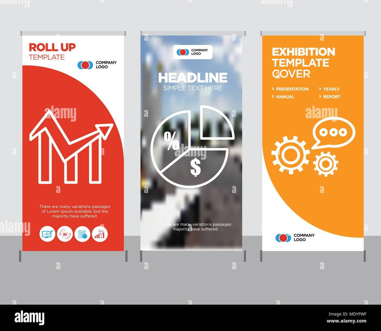 3d Data Analytics Modern Business Roll Up Banner Design Template