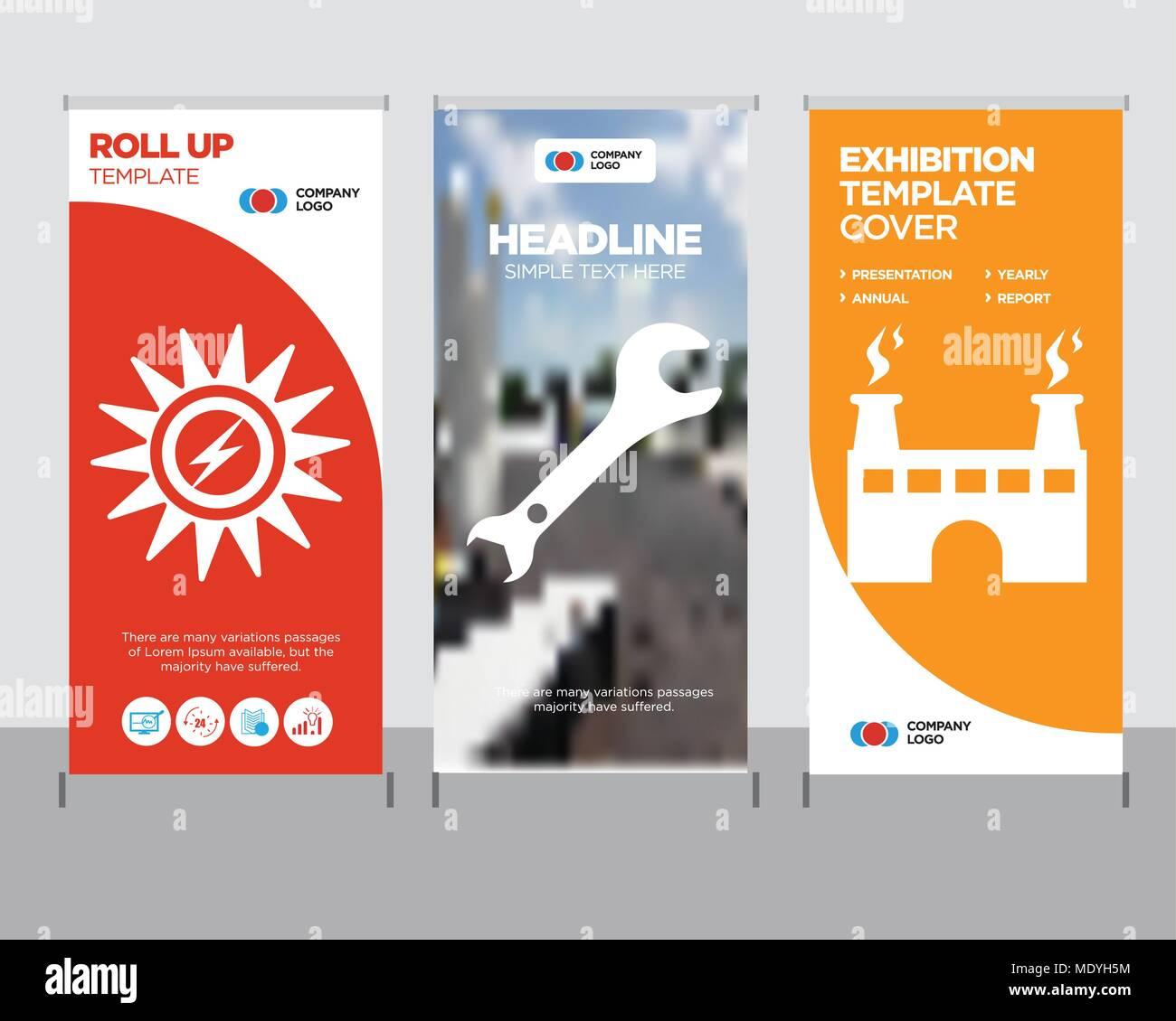 factory modern business roll up banner design template, adjustable ...