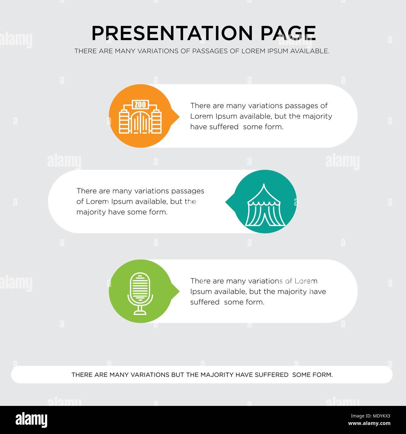 microphone tent zoo presentation design template in orange green