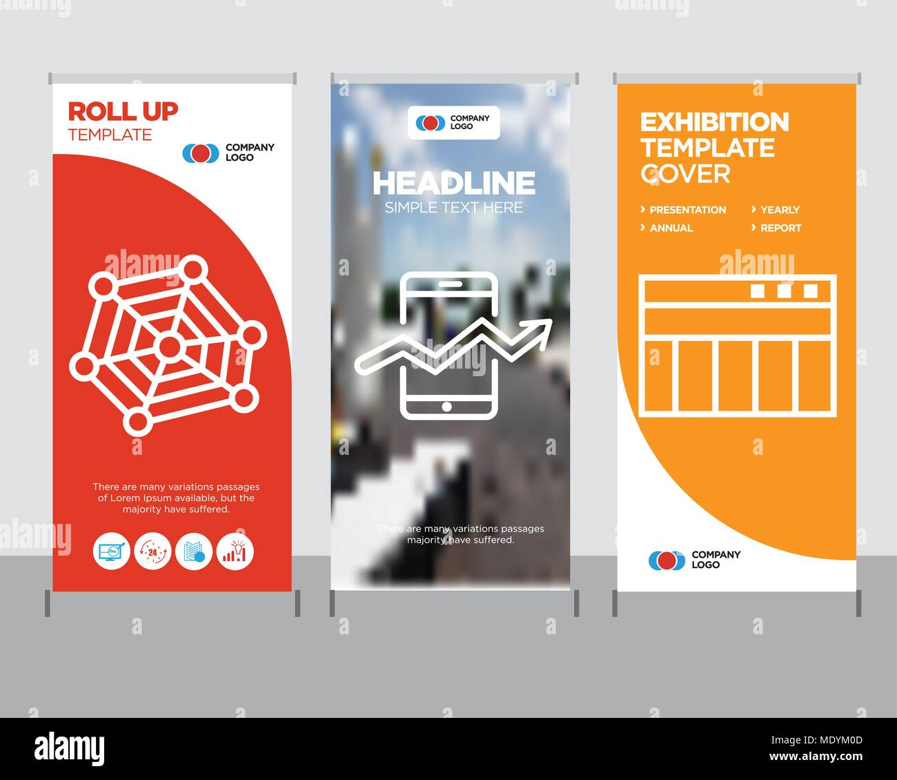 table for data modern business roll up banner design template web