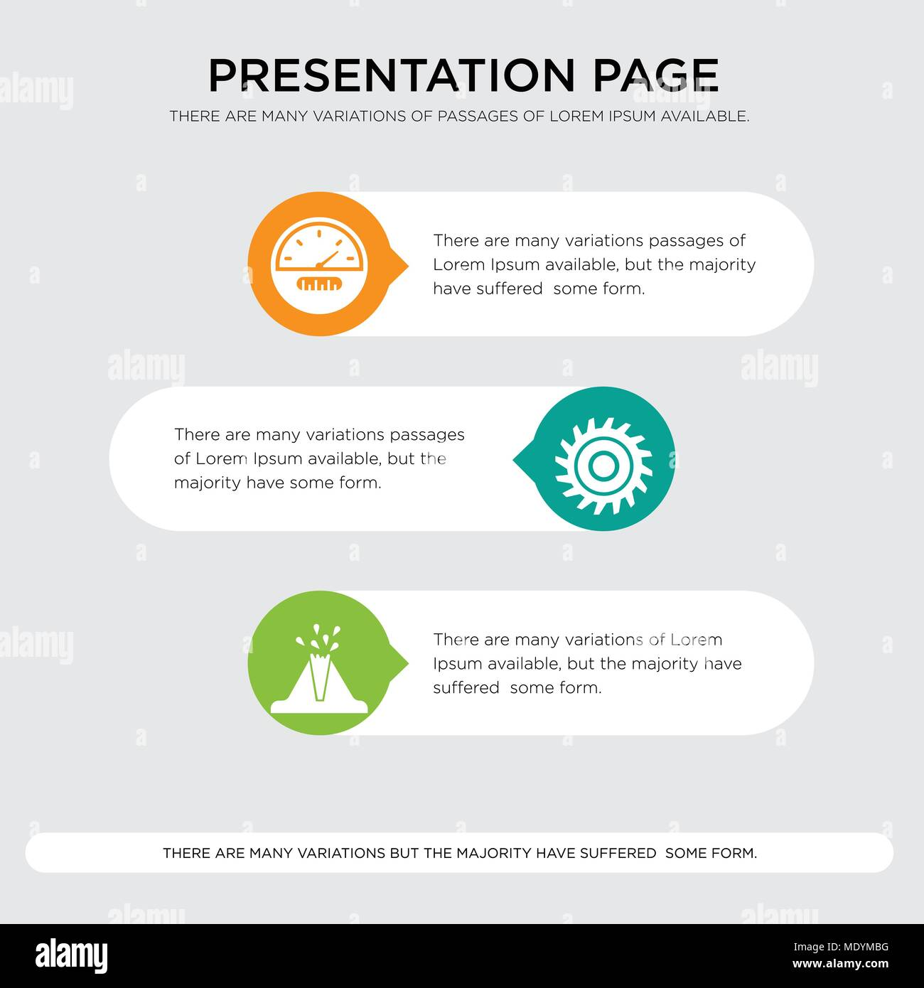 volcano saw blade speedometer presentation design template in
