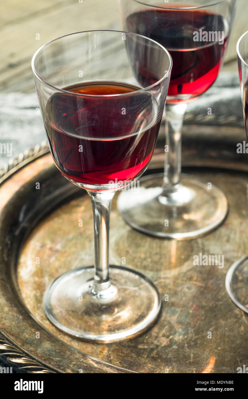 Sweet Port Dessert Wine ready to Drink Stock Photo