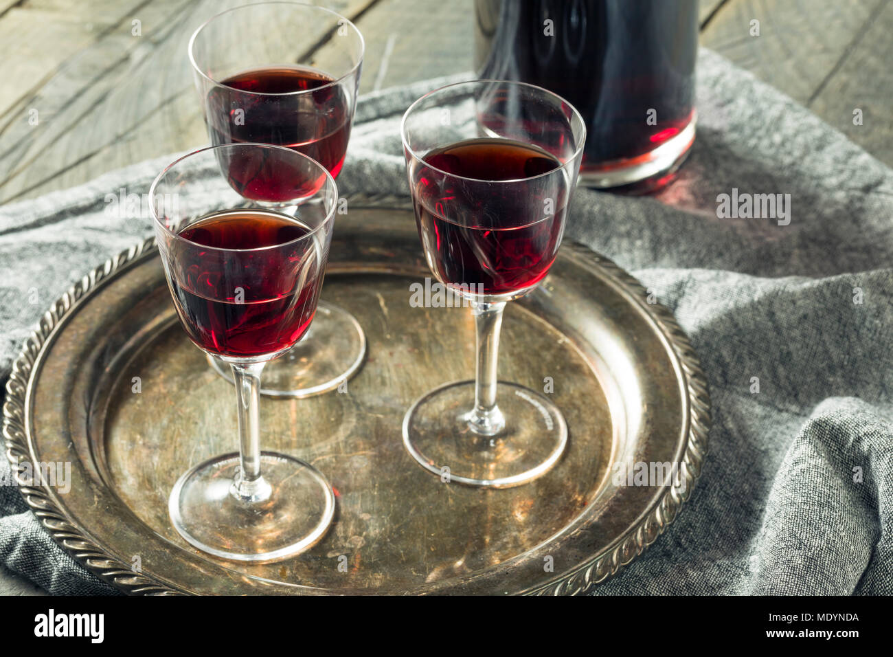 Sweet Port Dessert Wine ready to Drink - Stock Image