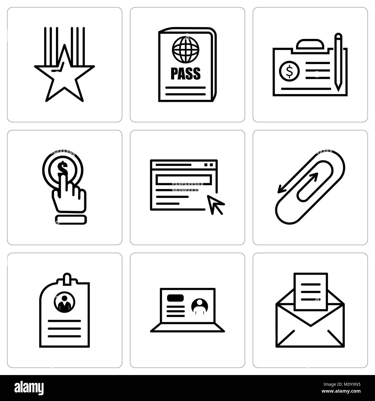 resume vector icons set stock photos  u0026 resume vector icons