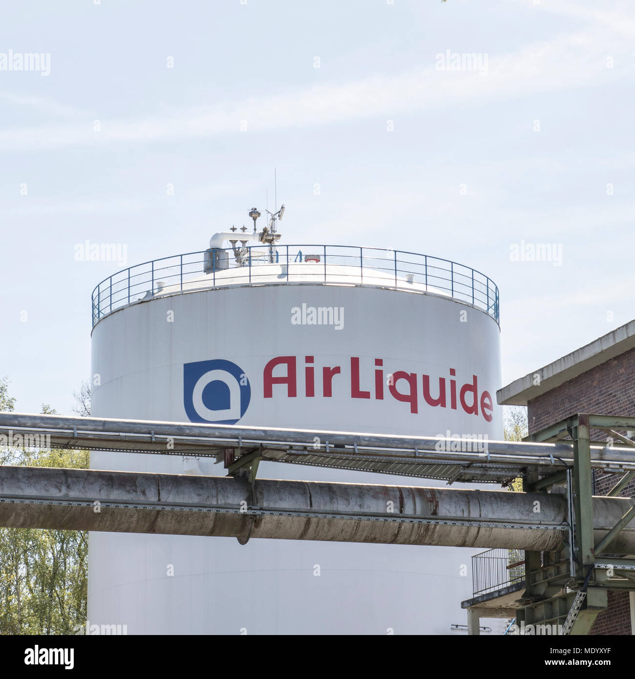 Dortmund, Ruhr Area, North Rhine Westphalia ,Germany - April 16 2018: French multinational company Air Liquide which supplies industrial gases - Stock Image
