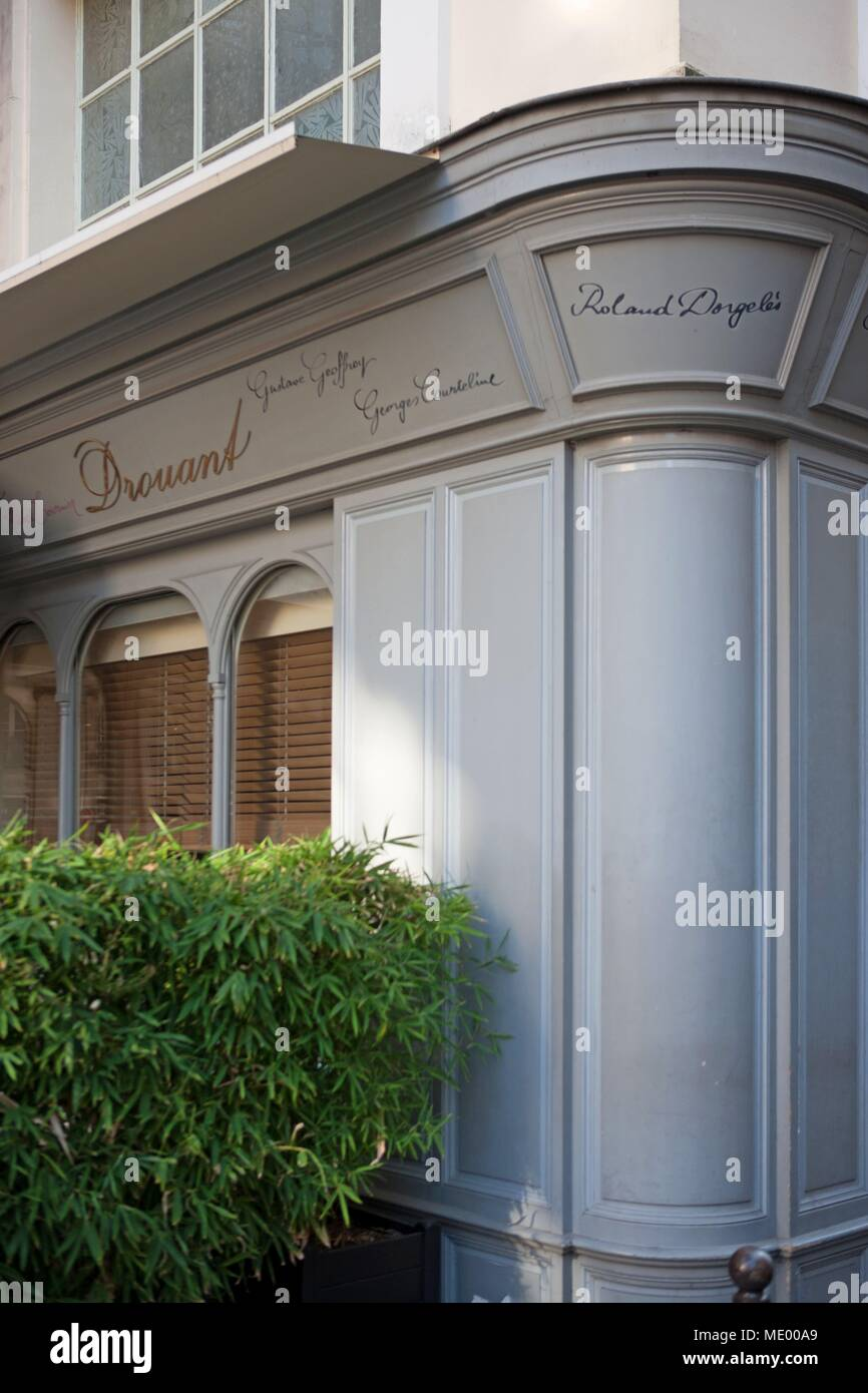 Paris, 2nd arrondissement, 18 rue gaillon, restaurant drouant, place where the Goncourt committee annouces the results - Stock Image