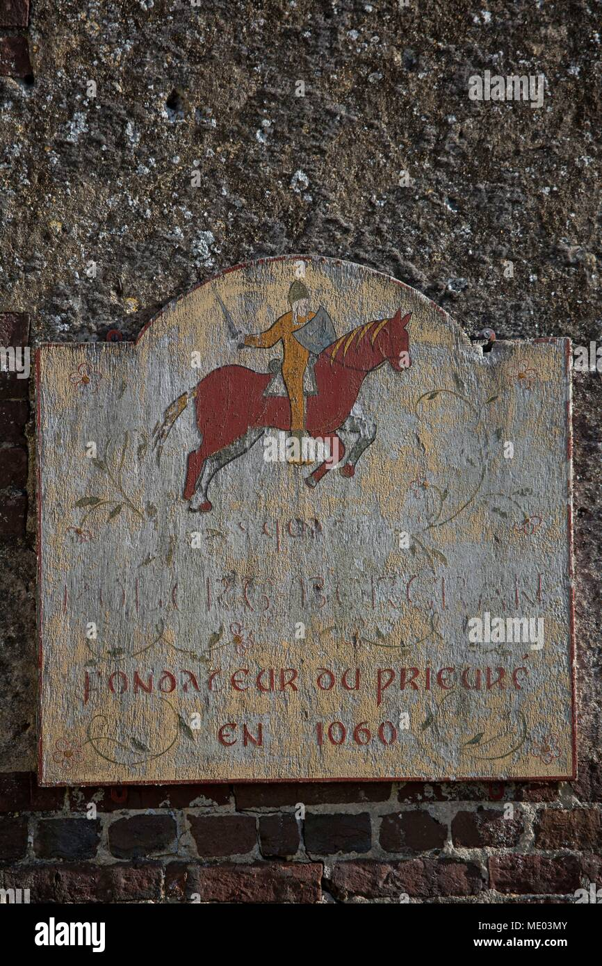 France, Normandy region (former Lower Normandy), Beaumont en Auge, village, Priory founded by William the Conqueror, - Stock Image