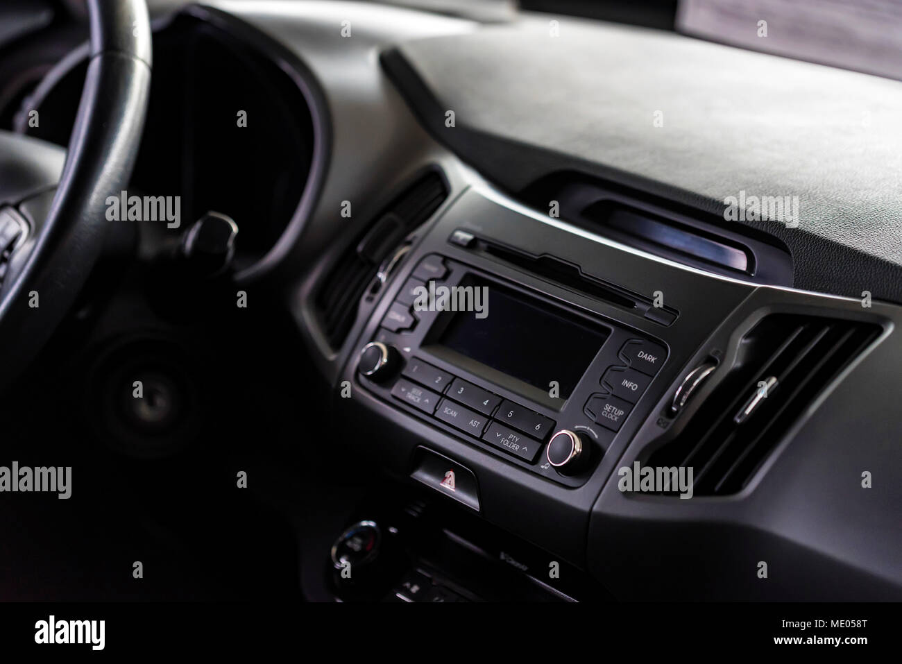 Multimedia system of modern car - Stock Image
