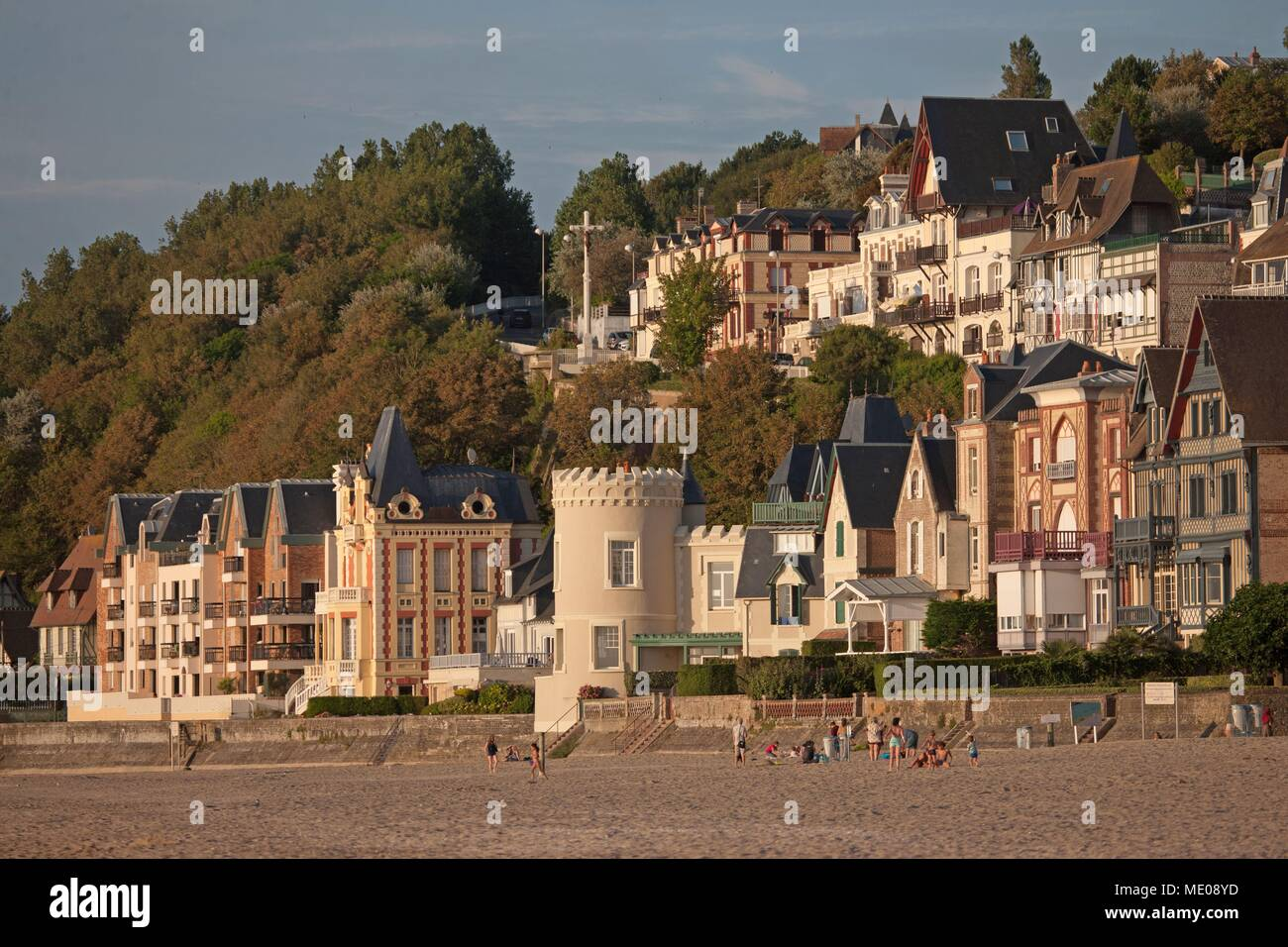 Captivating France, Normandy Region, Former Lower Normandy, Pays Du0027Auge, Trouville Sur  Mer, Villas On The Seafront, Cliff And Trouville Heights, Tour Malakoff