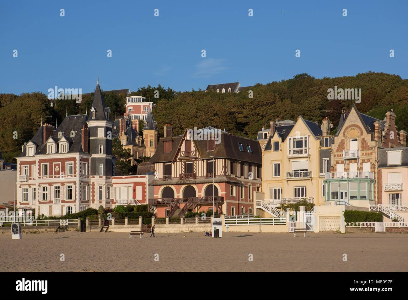 France, Normandy Region, Former Lower Normandy, Pays Du0027Auge, Trouville Sur  Mer, Villas On The Seafront, Cliff And Trouville Heights
