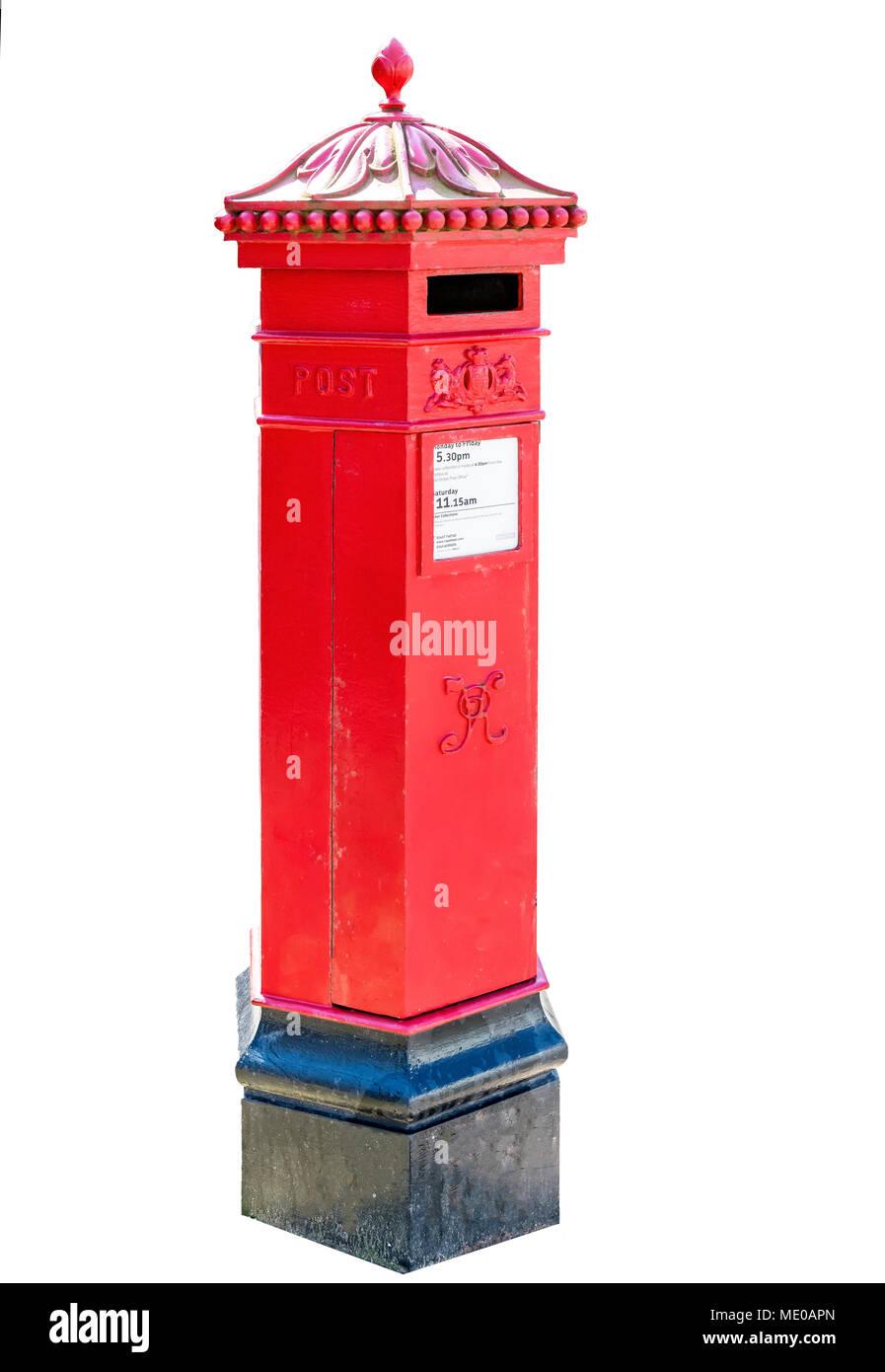 victorian post box - Stock Image