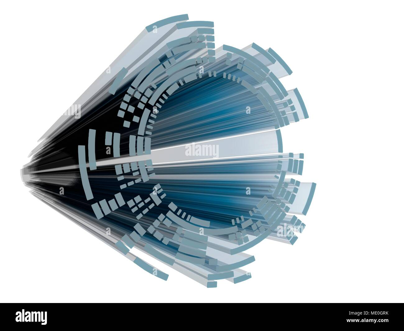 Abstract circular display element for user interfaces, HUD, diagrams and sci-fi. - Stock Image
