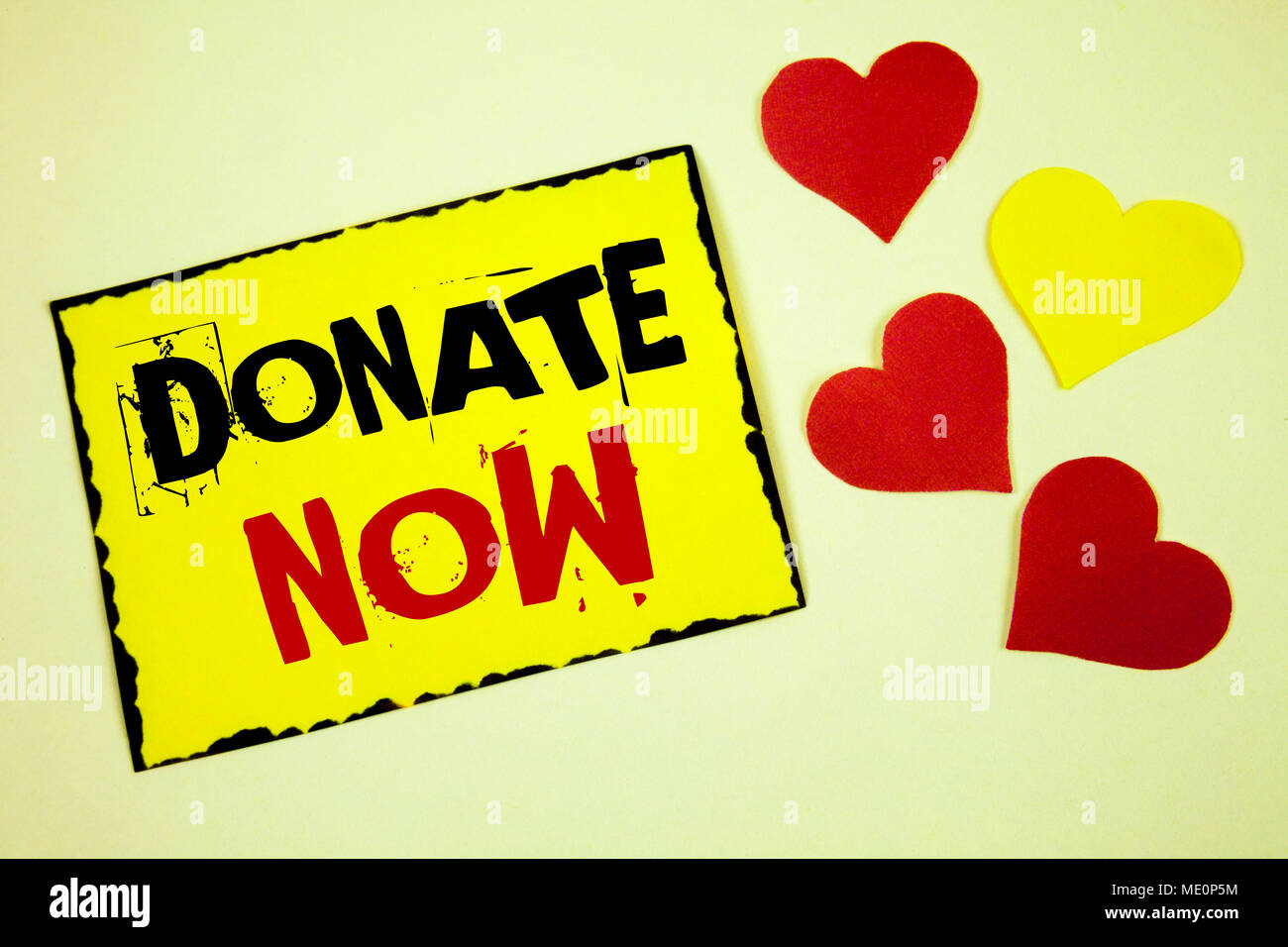writing note showing donate now business photo showcasing give