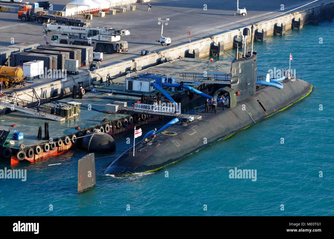 British Military, Submarine, U-Boot, - Stock Image