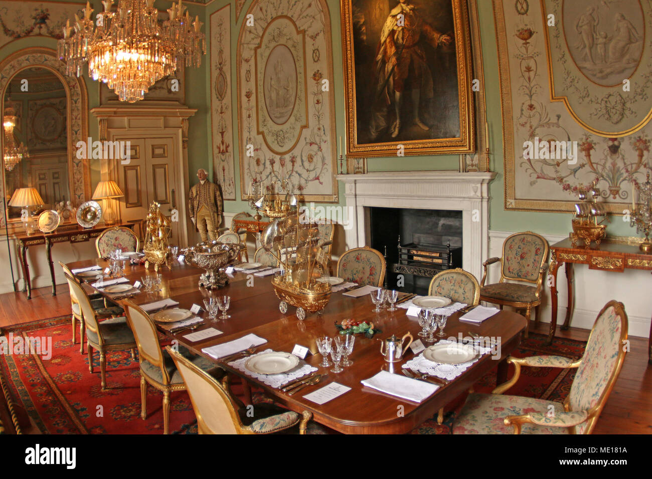 Castle Dining Room - Stock Image