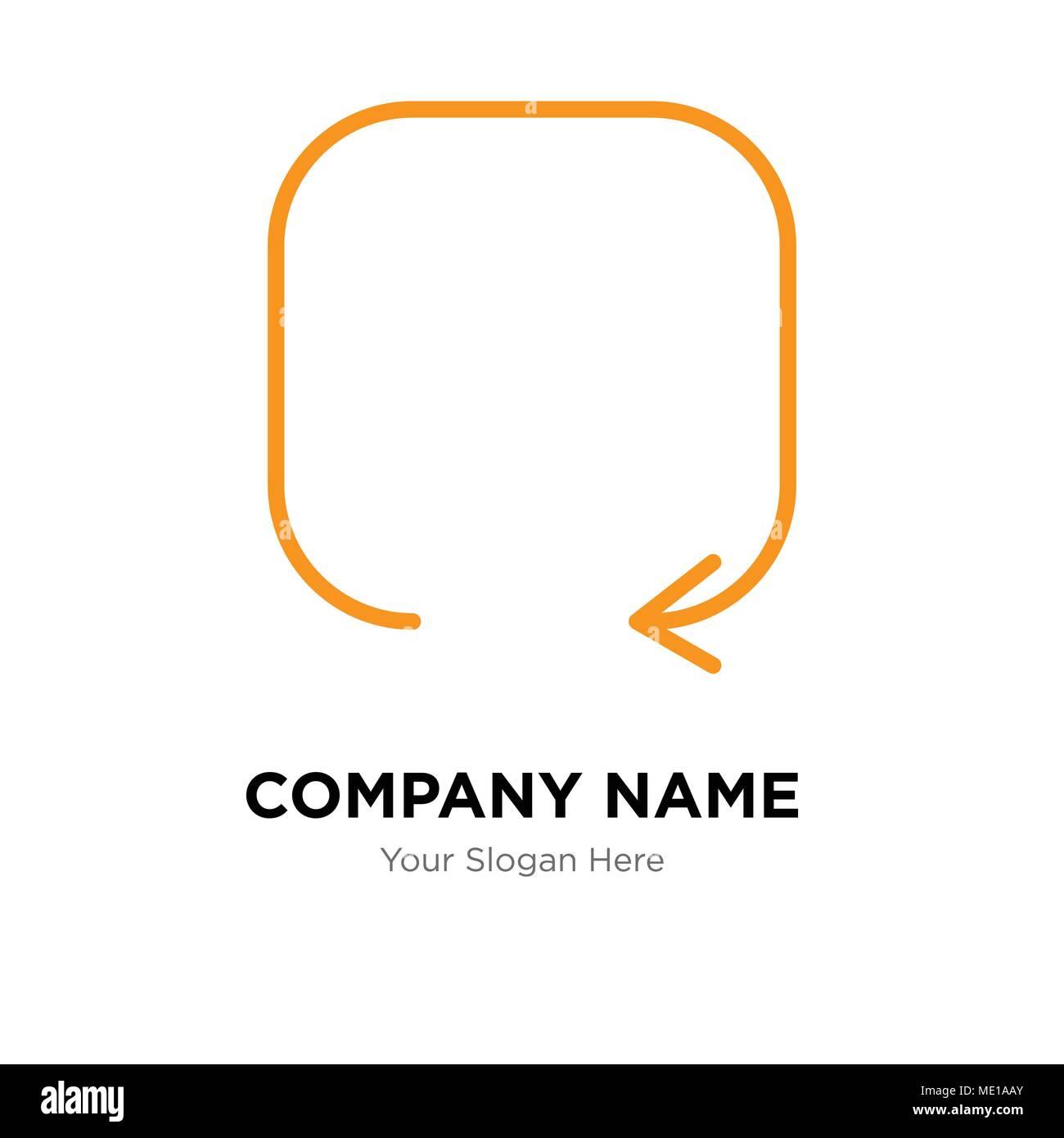 update arrow company logo design template business corporate vector
