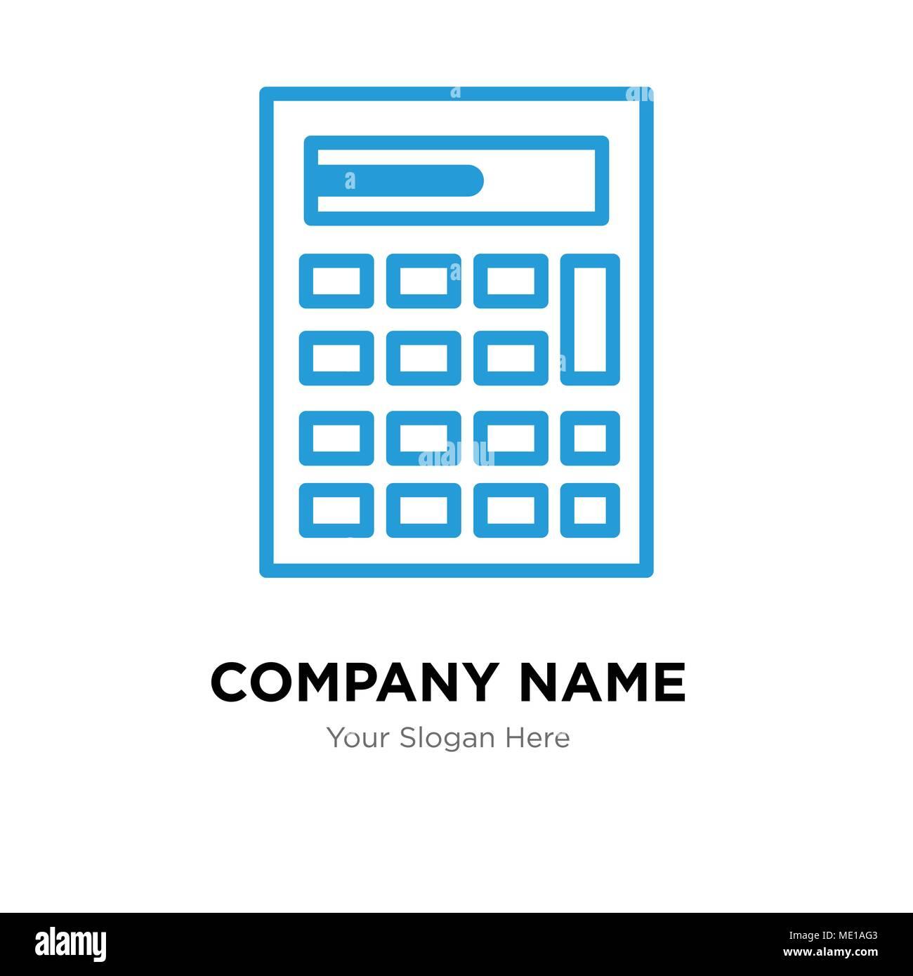 Calculator Template   Calculator Company Logo Design Template Business Corporate Vector