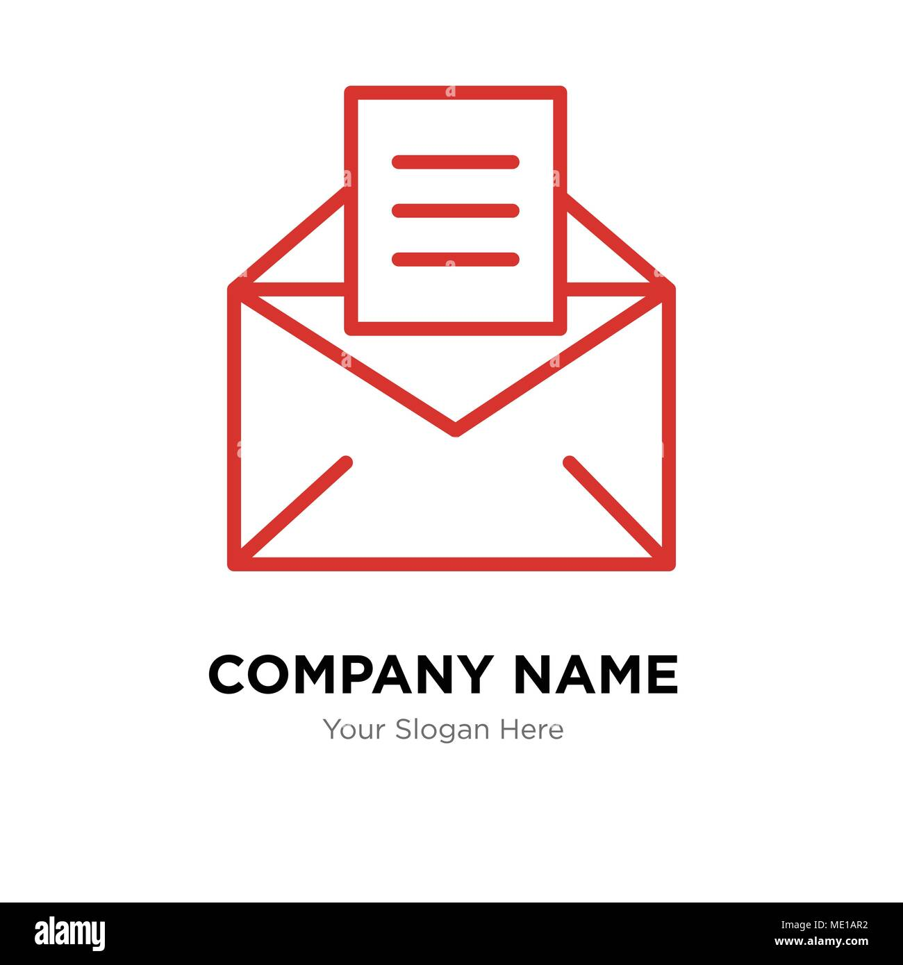 email company logo design template, business corporate vector icon