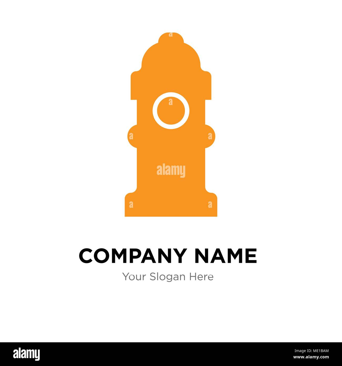 fire hydrant company logo design template business corporate vector